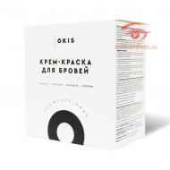 Крем-краска для бровей с окислителем с экстрактом хны в наборе 4 цвета в тубе OKIS BROW