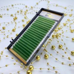 Ресницы Ollure зеленые mix 0,07 / D