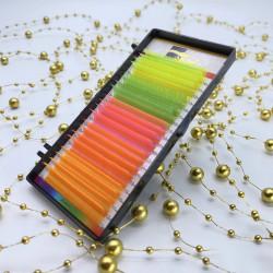 Ресницы Ollure Neon Mix (желт/зел/роз/красн/оранж) mix 0,10 / CC